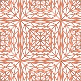 Seamless copper ornament on white wall with shadows. Seamless copper ornament decor on white wall with shadows, simple geometric pattern, 3D illustration stock illustration