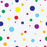 Seamless copybook with dots background Stock Photography