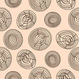 Seamless cork wood pattern. Wooden texture vector background. Stock Image
