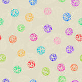 Seamless Corolful Decorative Ornament Polka Dot. Royalty Free Stock Photos