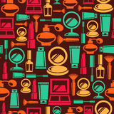 Seamless cosmetic pattern Royalty Free Stock Photo
