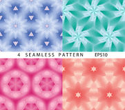 Seamless cosmic space abstract pattern. Vector set of 4. Stock Images