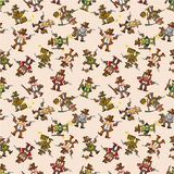Seamless cowboy pattern  Stock Images
