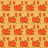 Seamless crabs pattern royalty free illustration