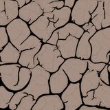 Seamless cracked background pattern Stock Photos