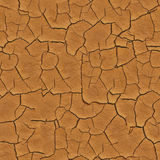 Seamless Cracked Earth Ground Texture Stock Images