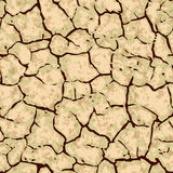 Seamless cracked ground background pattern Royalty Free Stock Photos