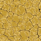 Seamless cracked ground background pattern Royalty Free Stock Photography