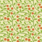 Seamless cranberries stylized background pattern Royalty Free Stock Images