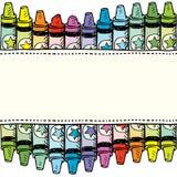 Seamless crayon vector border Stock Photo
