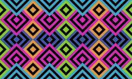 Seamless crazy colored tile or background with geometrical pattern. And optical illusion effect Royalty Free Stock Image