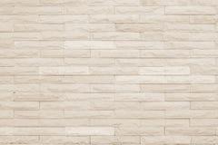 Seamless Cream pattern of decorative brick sandstone wall surfac royalty free stock photography