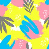 Seamless creative pattern. Artistic repeating background with abstract hand drawn shapes. Design for textile, wallpapper, poster, card, invitation vector illustration