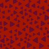 Creative print withornamental triangles Royalty Free Stock Photography