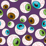 Seamless Creepy Eyeball Pattern Royalty Free Stock Image