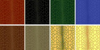 Seamless of crocodile leather stock illustration