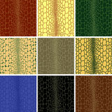 Seamless of crocodile leather royalty free stock image