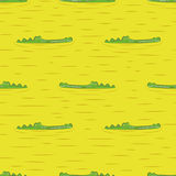 Seamless crocodile pattern. Alligators in water. Vector background vector illustration