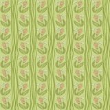 Seamless crooked wavy lines flower pattern Stock Photos