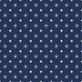 Seamless cross flower and circle round pattern background. Royalty Free Stock Photography