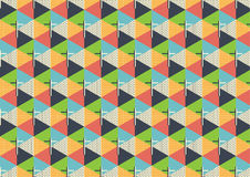 Seamless cross pattern abstract background, illustration. With colorful triangle royalty free illustration