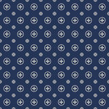 Seamless cross round pattern tracery background. Royalty Free Stock Photo