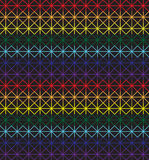 Seamless cross-stitch pattern in rainbow colors Royalty Free Stock Photography
