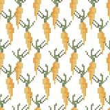 Seamless cross stitches carrot pattern on white royalty free illustration