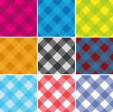 Seamless Cross weave Gingham Pattern Stock Photos