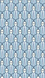 Seamless Crowd Wallpaper Pattern Stock Photography