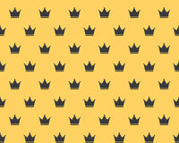 Seamless Crown Royal Attribute Pattern Royalty Free Stock Image