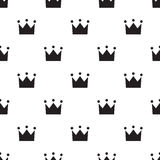 Seamless crown sign pattern on white Royalty Free Stock Photography