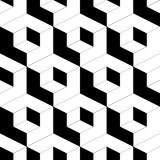 Seamless Cube Pattern. Abstract Black and White Background. Vector Regular Texture Royalty Free Stock Photography