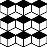 Seamless Cube Pattern. Abstract Monochrome Background. Vector Regular Texture Royalty Free Stock Images