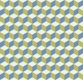 Seamless cube pattern background texture. Wallpaper royalty free illustration