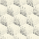 Seamless Cube Pattern. Vector Monochrome Background. Modern Chao Royalty Free Stock Photography