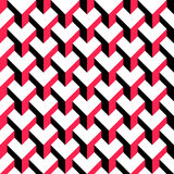 Seamless Cube Pattern. Vector Red and Black Background Stock Photo