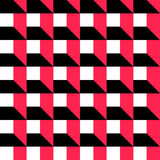 Seamless Cube Pattern. Vector Red and Black Background Stock Photography