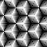 383-14. Seamless Cube and Stripe Pattern. Abstract Monochrome Gradient Background. Vector Regular Symmetric  Texture Stock Photos