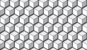 Seamless cube tile background Stock Image