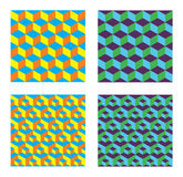 Seamless Cubes Patterns. This image is a vector illustration and can be scaled to any size without loss of resolution Royalty Free Stock Photography