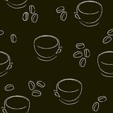 Seamless cup pattern Royalty Free Stock Photos