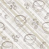 Seamless cup pattern Royalty Free Stock Image