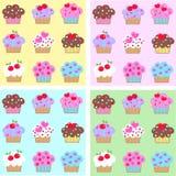 Seamless cupcake pattern Royalty Free Stock Photography