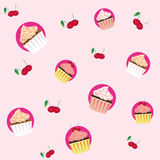 Seamless Cupcake Pattern Royalty Free Stock Images