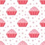 Seamless cupcake pattern. Sleek style. Vector illustration vector illustration