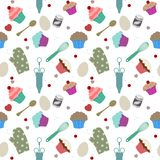 Seamless cupcakes Stock Images