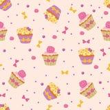 Seamless Cupcakes vector illustration