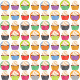 Seamless Cupcakes Sweet Pattern Royalty Free Stock Images
