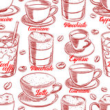 Seamless cups of coffee - 2 Royalty Free Stock Images